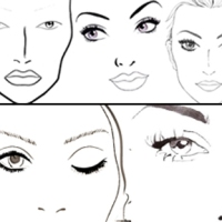 20 Face Charts Blank / 20 Portraits Vierges