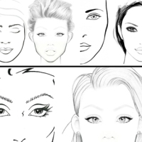 20 Face Charts Blank / 20 Portraits Vierges #2
